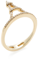 Rina Limor Fine Jewelry 14K Yellow Gold & 0.17 Total Ct. Diamond Eiffel Tower Ring