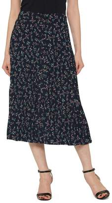 Pleione Pleated Elastic Waist Skirt