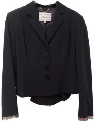 Anna Molinari Blue Silk Jacket for Women