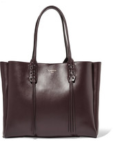 Lanvin The Shopper Small Leather Tote - Burgundy