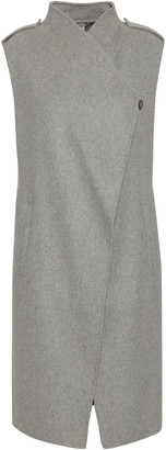 Soia & Kyo Linna Brushed Wool-blend Felt Gilet