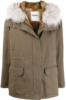 Yves Salomon Army fur trimmed parka coat