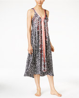 Oscar de la Renta Border-Print Nightgown