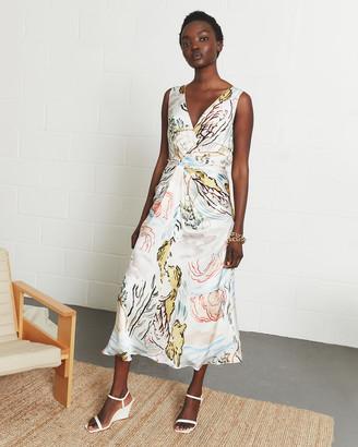 Jigsaw Riviera Print Silk Twist Dress