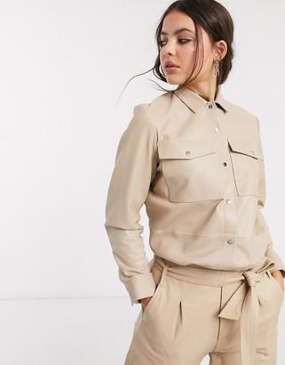 Goosecraft oversized leather shirt