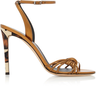 Giuseppe Zanotti Ylenia Ankle-Wrap Leather Sandals