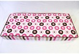 Bacati Modern Dots/Stripes Pink/Chocolate Dots Changing Pad Cover