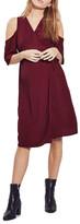 Topshop Cold Shoulder Wrap Maternity Dress