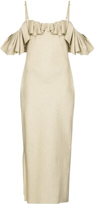 Jacquemus Pampelonne off-the-shoulder midi dress
