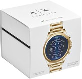 Armani Exchange Armani Exchange Brushed Gold Stainless Steel Bracelet Mens Smart Watch