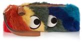 Anya Hindmarch Rainbow Eyes mink-fur clutch