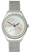 Lacoste Women's 2000895 VALENCIA MEDIUM Analog Display Japanese Quartz Silver Watch