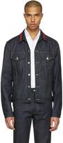 Gucci Blue Denim Bee Jacket