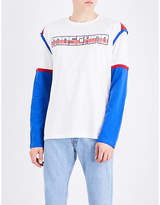 Moschino Transformer Logo Cotton-jersey Top