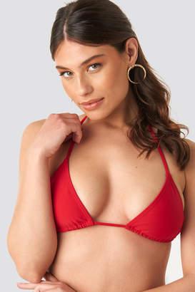 NA-KD Triangle Bikini Top Red