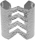 Argentovivo Chevron Hammered Cuff