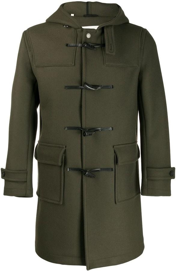 MACKINTOSH WEIR Dark Olive Wool Duffle Coat GM-013