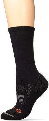 Merrell Women's 1 Pack Cushioned Zoned Light Hiker Crew Socks