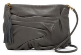 Hobo Atlas Ruched Leather Crossbody Clutch