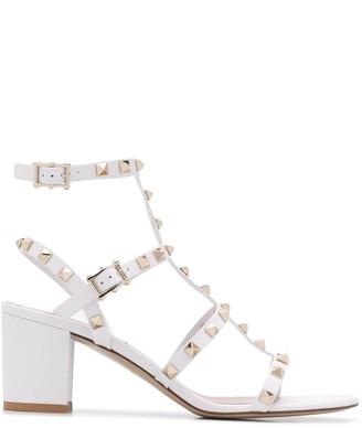 Valentino Rockstud caged mid-heel sandals