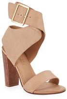 Splendid Jayla Leather Ankle-Wrap Sandals