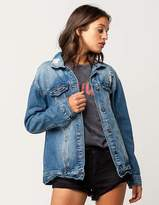HIGHWAY Womens Boyfriend Denim Jacket