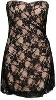 Vintage Lace Strapless Dress