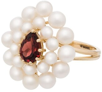 Anissa Kermiche 14kt gold Cotillon pearl garnet ring