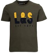 Lyle & Scott Boys' Short Sleeve Brand T-Shirt, Olive Green