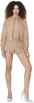 Alice + Olivia Rose Tan Nixon Patent Leather Jacket
