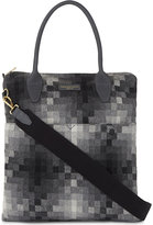 Richard James Checked Leather Trim Tote Bag