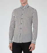 Reiss Reiss Beetle - Striped Shirt In White