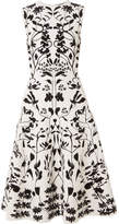 Alexander McQueen Stretch-jacquard Dress - White