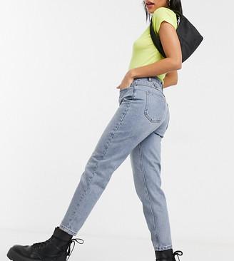 Reclaimed Vintage The '89 slim tapered leg jean in vintage mid stone wash-Blue