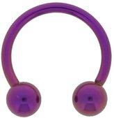 Ring Purple Anodized Steel Horshoe Piercing 1.2mm