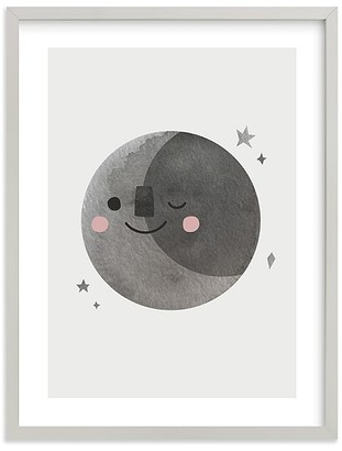 Pottery Barn Kids Minted A Happy Moon Wall Art by Mollie Rose Bohannon