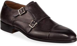 Magnanni Men's Boltilux Super-Flex Leather Double Monk Loafers