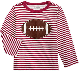 First Impressions Baby Boys Cotton Striped Football T-Shirt