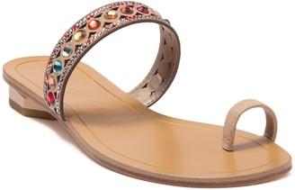 Pelle Moda Ira Embellished Toe Loop Sandal
