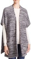 Aqua Diagonal Ribbed Knit Ruana - 100% Bloomingdale's Exclusive
