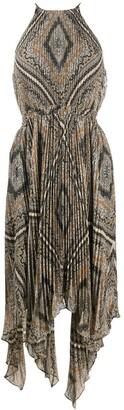 MICHAEL Michael Kors Geometric-Print Pleated Dress