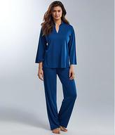 N Natori: Congo Mandarin Collar Knit Pajama Set