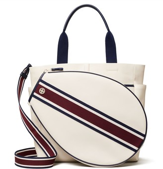 Tory Burch Canvas Convertible Stripe Tennis Tote