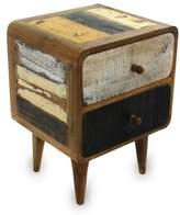 Vintage Look Side Table in Reclaimed Teakwood, 'Early Rusticity'
