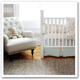New Arrivals Inc. New Arrivals Picket Fence 2 Piece Crib Bedding Set, Beige by New Arrivals