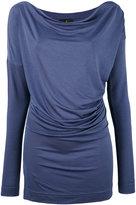 Vivienne Westwood draped T-shirt - women - Spandex/Elastane/Lyocell - M