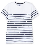 Petit Bateau Girls nautical striped T-shirt
