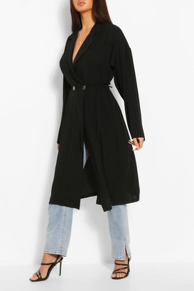 boohoo Relaxed Fit Double Breasted Jacket