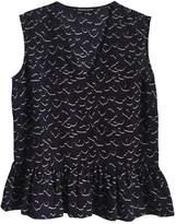 Markus Lupfer Blue Silk Top for Women