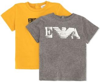 Emporio Armani Kids logo-print crew-neck T-Shirt